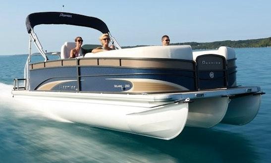 23 39 premier fishing tri toon rental in nisswa getmyboat for Fishing boat rental mn