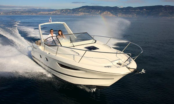 Charter The 30ft Jeanneau Leader 8 Essence Motor Yacht In Golfe Juan, France