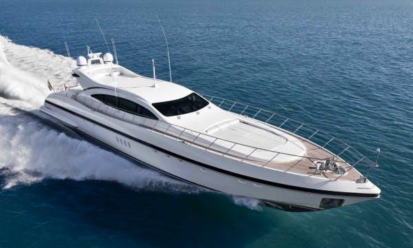 "Charter ""Mangusta 108"" Luxury Yacht In France"