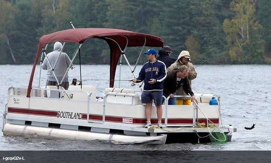 14' Pontoon Boat Rental On Kashwakamak Lake In Canada