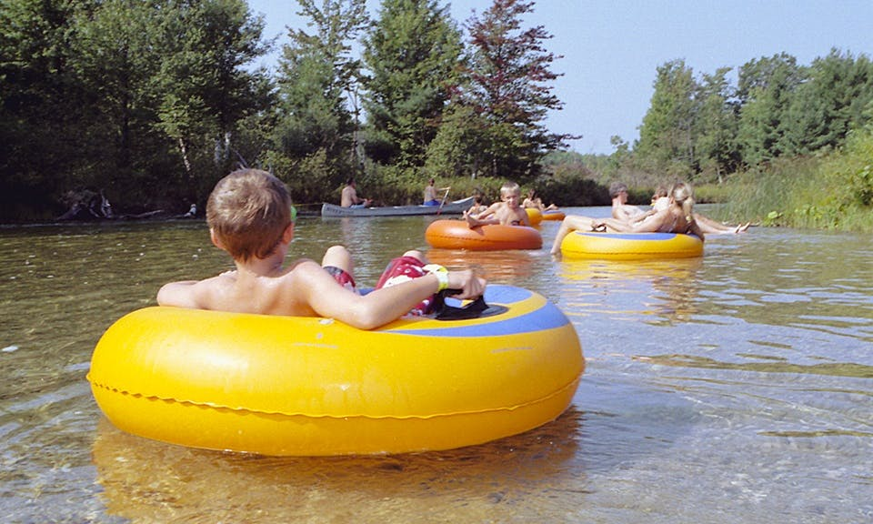 Tube Float Rental in Pere Marquette River, Michigan