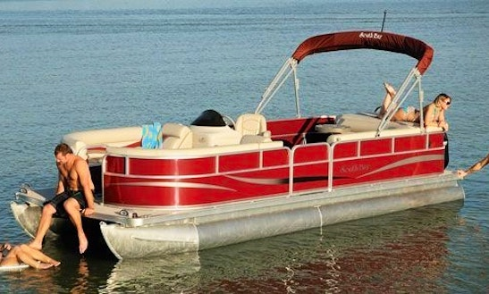 Rent The 24' Southbay Pontoon Boat In Bellaire, Michigan