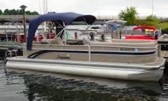 Rent The 24' Premier Pontoon Boat In Bellaire, Michigan