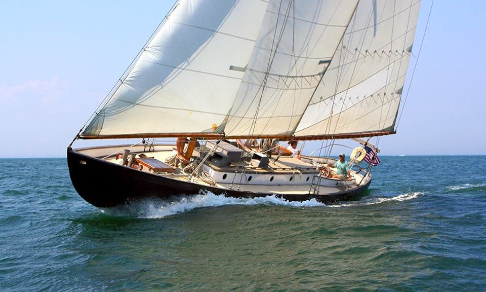 48' Schooner Sail Charter in Tisbury, Massachusetts