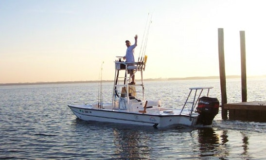 Enjoy 21' Custom Rigged Flats Boat Fishing Charter In Tampa, Florida