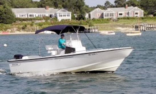 24ft Boston Whaler Outrage Bowrider Boat Rental In Yarmouth, Massachusetts