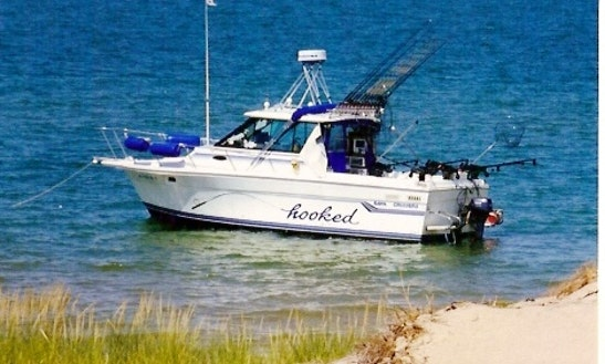 Saint clair shores fishing charter on 30ft baha cruisers for Rent fishing gear near me