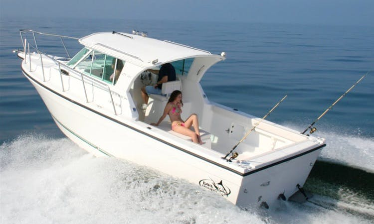 Saint Clair Shores Fishing Charter on 30ft Baha Cruisers Sporfishing Yacht