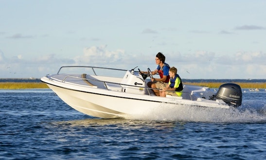 18ft ''may-craft'' Center Console Skiff Boat Rental In Nantucket, Massachusetts