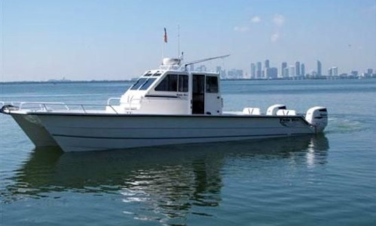Captained Fishing Charter On 32' Twin Vee Yacht In Venice, Louisiana