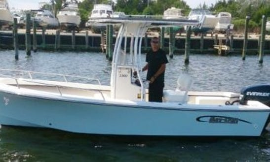 19ft ''may-craft'' Center Console Skiff Boat Rental In Nantucket, Massachusetts