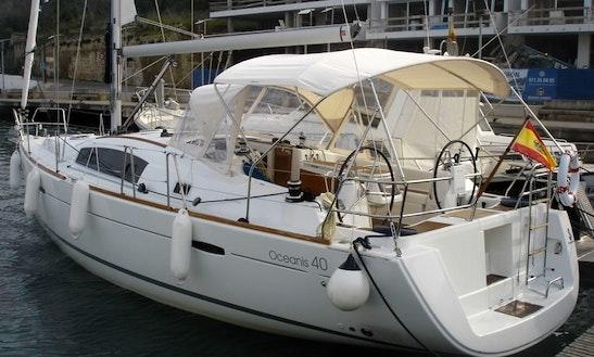38ft Oceanis 40 Sailing Charter In Fornells Menorca, Spain