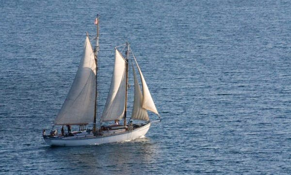 "65ft ""Edith Becker"" Gaff- Rigged Schooner Rental In Sister Bay, Wisconsin"
