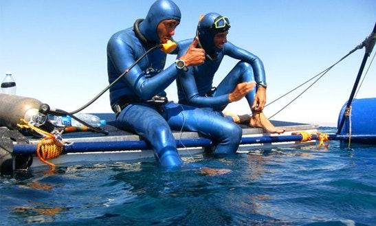 Pontoon Freediving Charter In El Rosario, Spain