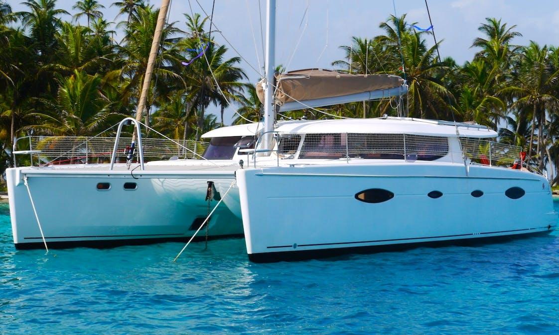 Captained Charter on Salina 48 Sailing Catamaran in San Blas, Panama. All Inclusive