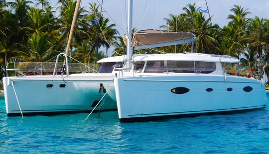 Captained Charter On Salina 48 Sailing Catamaran In San Blas, Panama. All Inclusive