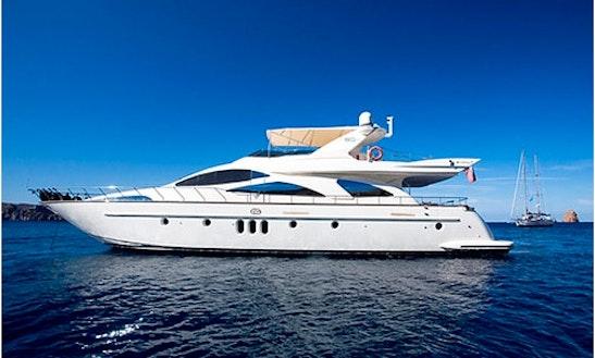 79' Azimut Tranquilita Power Mega Yacht Charter In Toscana, Italy