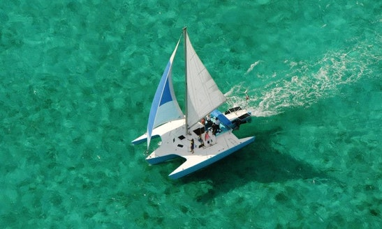 Newick 36' Trimaran Cruising Catamaran Rental In George Town, Cayman Islands
