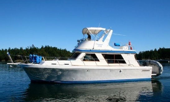 41ft Canoe Cove Trawler Boat Fishing Charter In Victoria, British Columbia