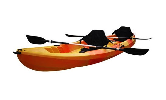 Rent Double Kayaks With Vest, Sealed Pot And Map In Fornells, Balearic Islands