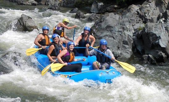 Rafting In West Of Sundre, Canada