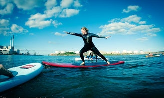 SUP Surfing In Denmark