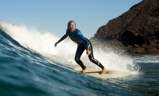 Surfing In Bensafrim, Portugal