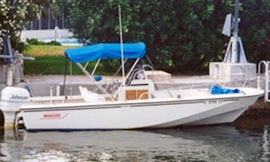 22ft Boston Whaler Luxury Center Console Boat Charter In Yarmouth, Massachusetts