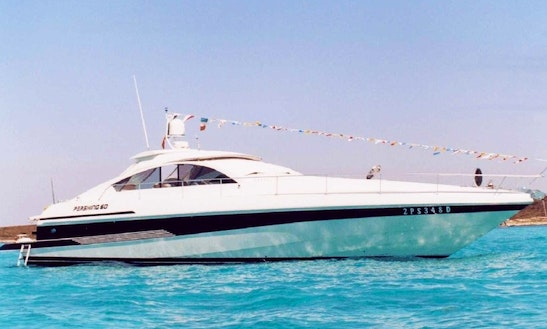 Charter 65' Pershing Power Mega Yacht In Rome, Italy