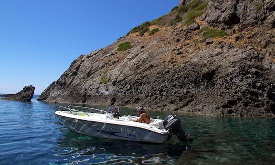 17' Ranieri Motorboat Rental In Bosa