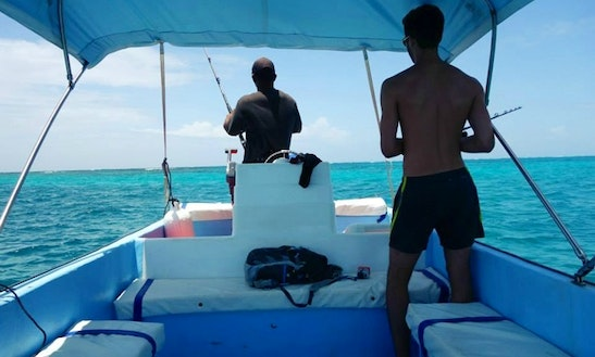 Fishing Tour Boat In Caye Caulker