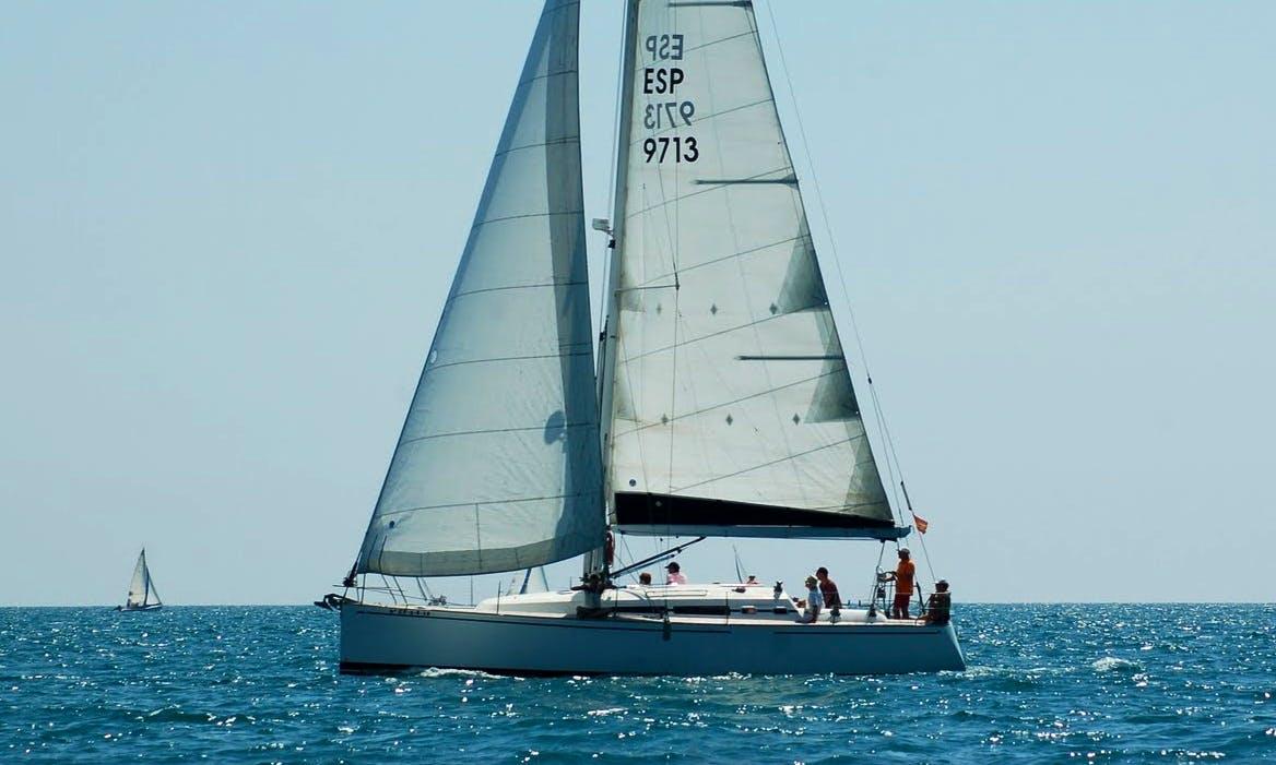 """Luxury Cruising Monohull """"Malbec 410"""" Charter in Spain"""
