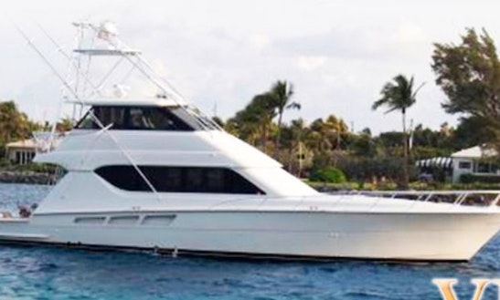 Vip Fishing Charter On 60' Hatteras In Cancun, Mexico