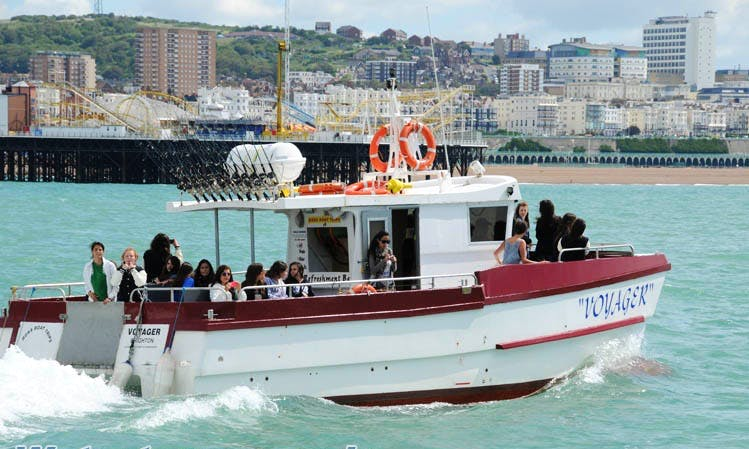 """Boat Trips and Cruises on """"Voyager"""" in Brighton"""