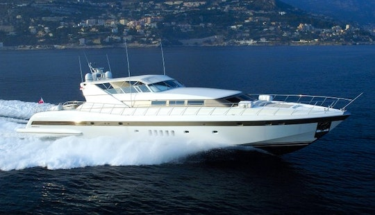 Luxury ''mangusta 105'' Power Mega Yacht Charter In Spain