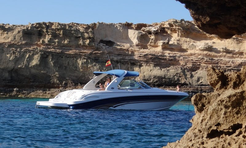 12 Person Sea Ray 290 Deck Boat Charter in Spain