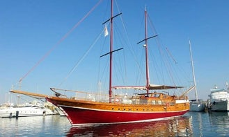 Charter a 80' Sailing Yacht for 12 Person for overnight or 45 day cruise  in Larnaca, Cyprus