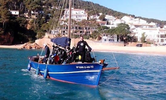 Dive Boat In Tamariu