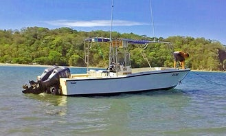 25' Center Console Rental for Fishing in Sámara, Costa Rica