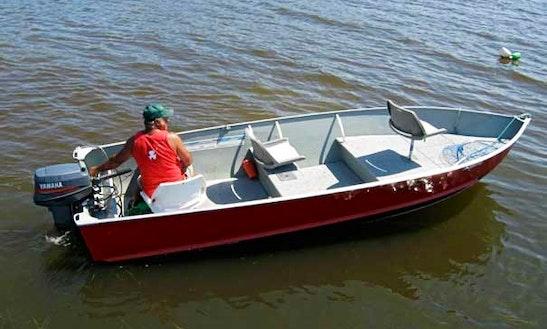 17' Upgrade Jon Boat Fishing Charter In Spanish, Canada