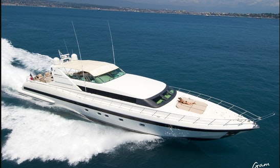 Charter 105' Mangusta Yacht In Cannes