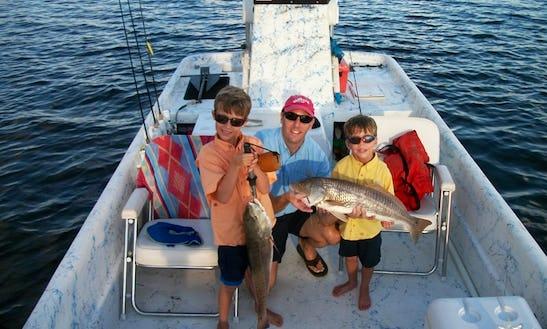 Rent 24' Carolina Skiff Fishing Boat In Crystal River, Florida