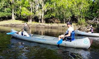 Canoe Rental in Arcadia on scenic paddle trail