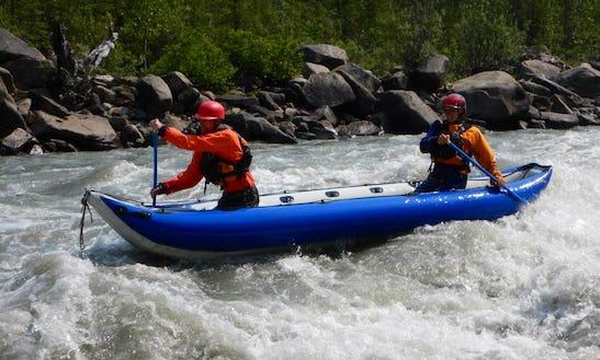 Inflatable Kayak Rafting Adventure In Yukon, Canada