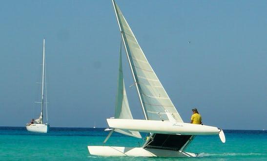 Beach Catamaran Sailing In Sant Jordi