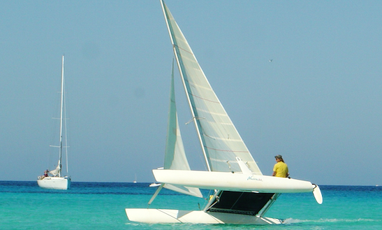 Beach Catamaran Sailing In Sant Jordi