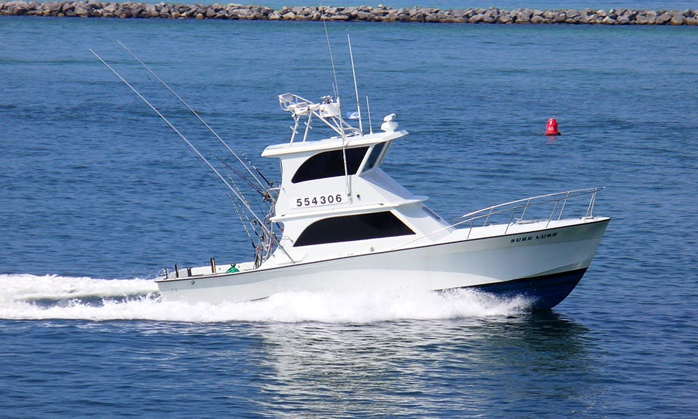 "Fishing Charter On 40ft ""Sure Lure"" Yacht In Destin, Florida"