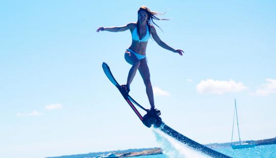 Hoverboard In Cap Martinet, Spain