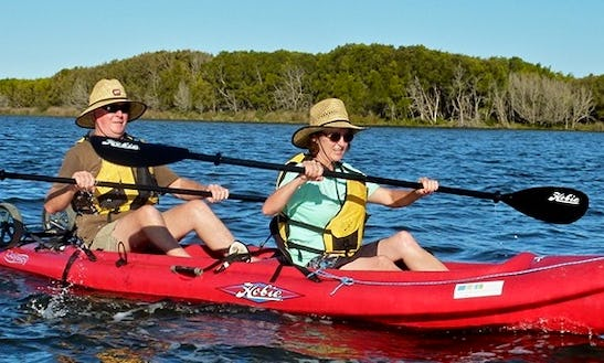 Two Seater Hobie Kayak Ready To Hire In Durras Lake, New South Wales, Australia