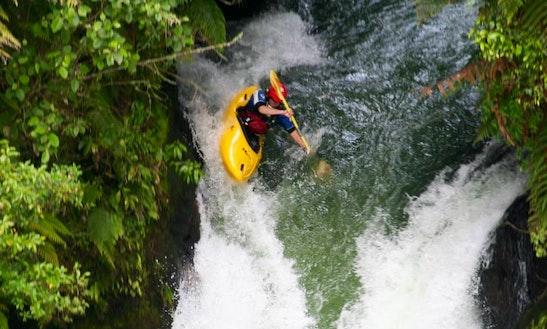 Kayak Rafting Adventures In Turangi, New Zealand